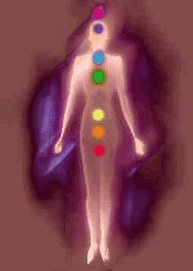 Human body with energy points shown2