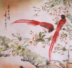 red birds chinese painting - Chinese New Year Superstitions
